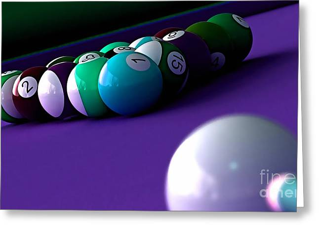 Game Room Billards Greeting Card
