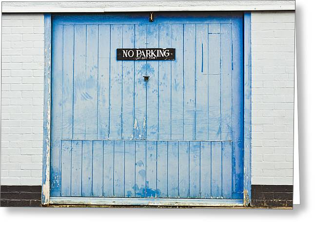 Garage Door Greeting Card