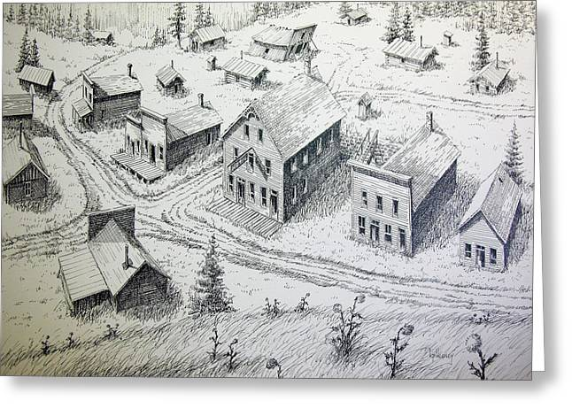 Garnet Ghost Town Montana Greeting Card by Kevin Heaney