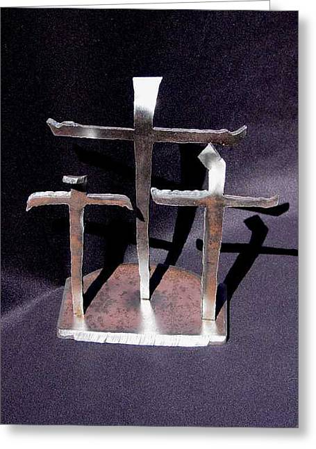 Jesus Sculptures Greeting Cards - 3 Gifts  Sold    Greeting Card by Steve Mudge