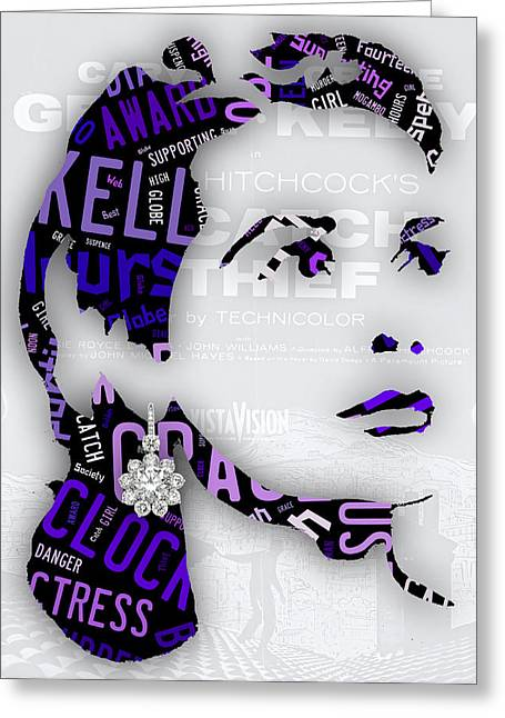 Grace Kelly Movies In Words Greeting Card