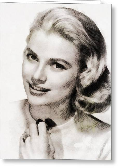 Grace Kelly, Vintage Hollywood Actress Greeting Card