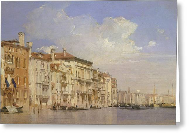 Grand Canal, Venice Greeting Card by Richard Parkes Bonington