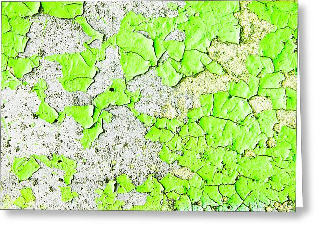 Green Paint Greeting Card by Tom Gowanlock