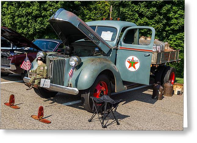 Hall County Sheriffs Office Show And Shine Car Show Greeting Card by Michael Sussman