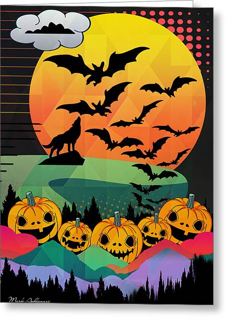 Halloween 10 Greeting Card by Mark Ashkenazi
