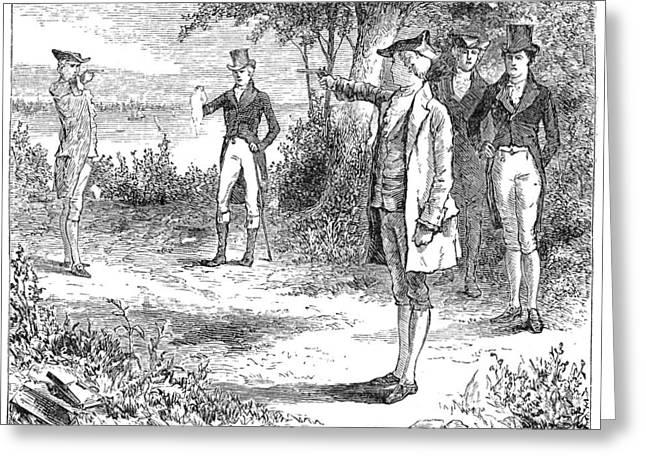 Burr Greeting Cards - Hamilton-burr Duel, 1804 Greeting Card by Granger