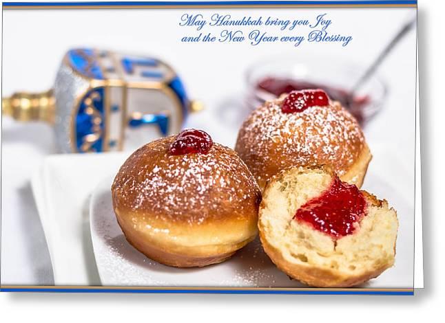 Happy Hanukkah Greeting Card by Irena Kazatsker