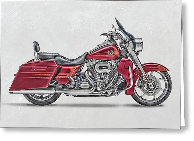 Harley-davidson-cvo-road-king-2013a Greeting Card by Stephanie Hamilton