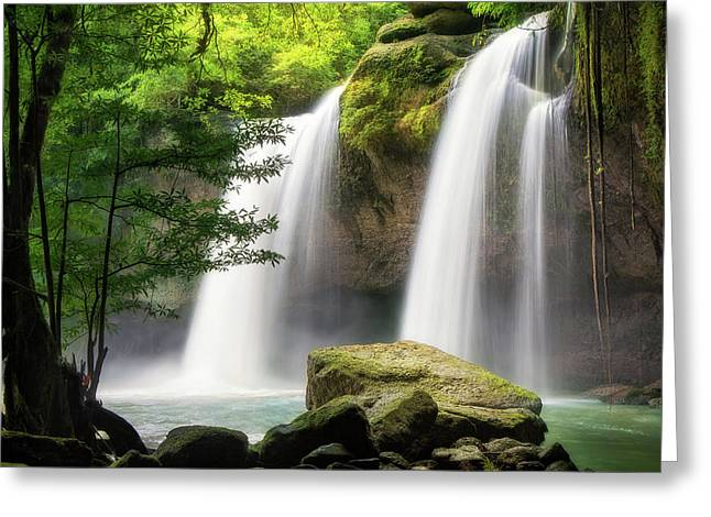 Heo Suwat Waterfall  Greeting Card