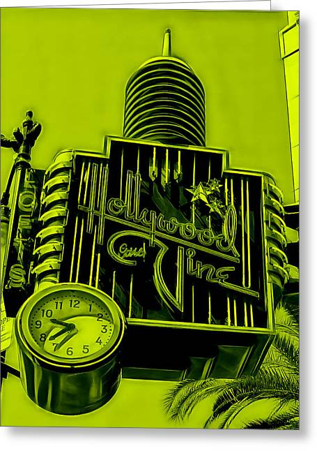 Hollywood And Vine Street Sign Collection Greeting Card by Marvin Blaine