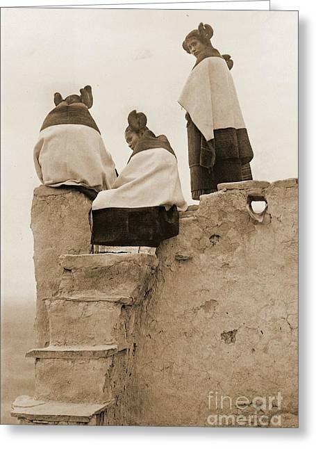 3 Hopi Women Greeting Card by Padre Art