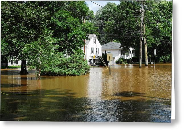 Hurricane Irene 2011 Greeting Card by Dimitri Meimaris