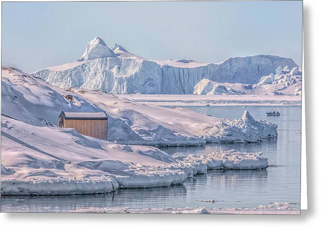 Icefjord - Greenland Greeting Card by Joana Kruse