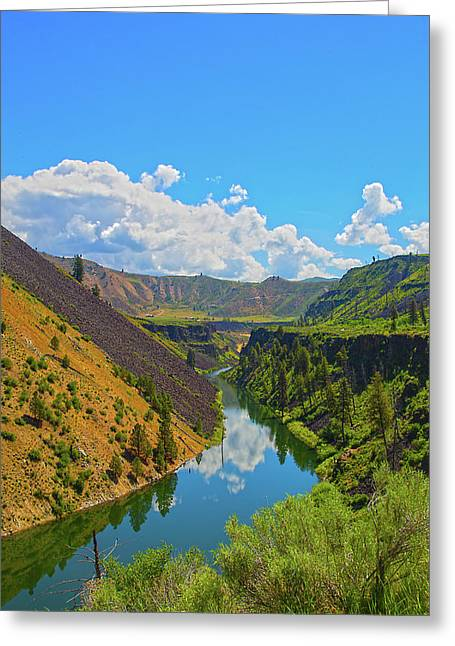 Greeting Card featuring the photograph Idaho Landscape by Dart Humeston