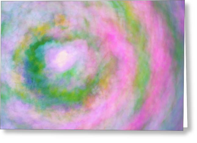 Greeting Card featuring the photograph Impression Series - Floral Galaxies by Ranjay Mitra