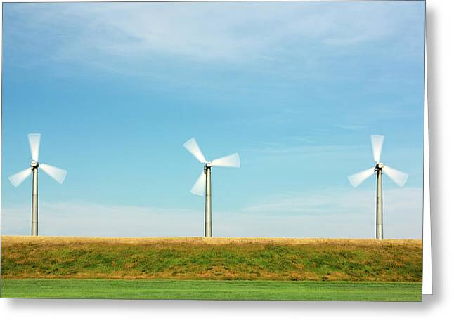 3 In A Row Greeting Card by Todd Klassy