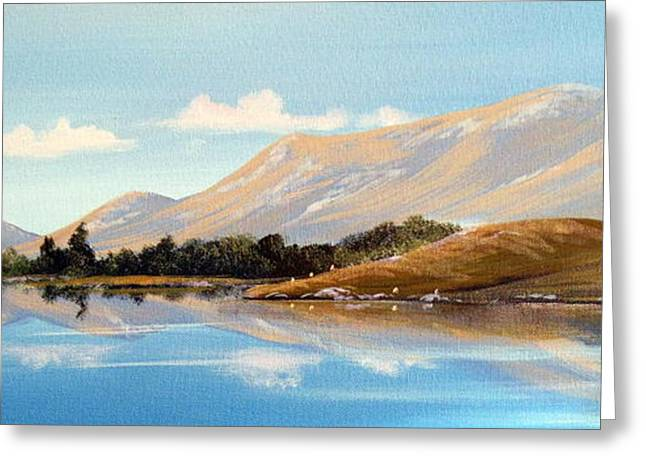 Inagh Valley Reflections Greeting Card by Cathal O malley