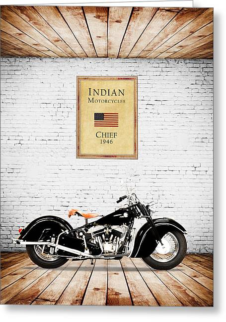 Indian Chief 1946 Greeting Card by Mark Rogan