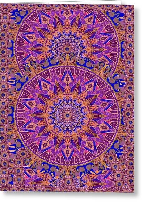 Indian Spring Silk Design Greeting Card by Sandrine Kespi