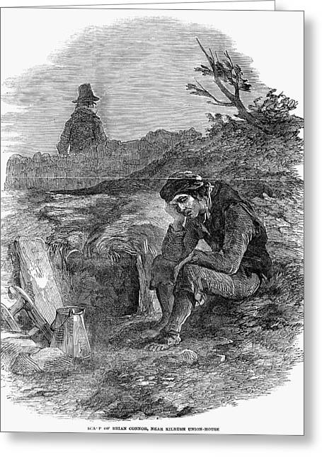 Famine Greeting Cards - Irish Potato Famine, 1846-7 Greeting Card by Granger