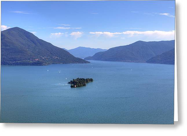 Ticino Greeting Cards - Isole di Brissago Greeting Card by Joana Kruse