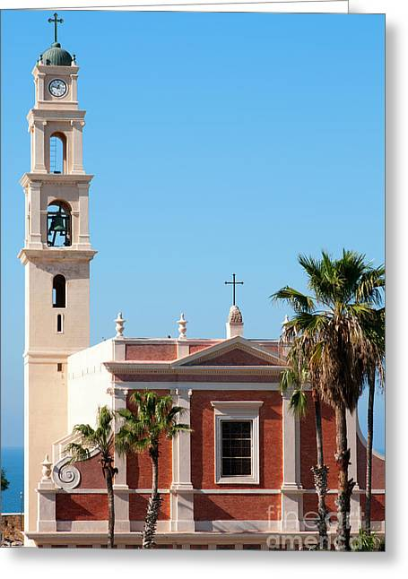 Jaffa, St Peter Church And Monastery Greeting Card by Ilan Rosen