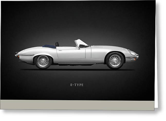 Jaguar E-type Greeting Card by Mark Rogan