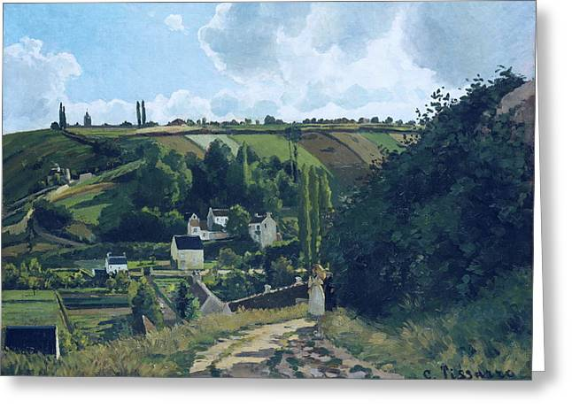 Jalais Hill, Pontoise Greeting Card by Camille Pissarro