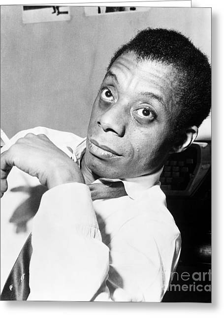 African-american Photographs Greeting Cards - James Baldwin (1924-1987) Greeting Card by Granger