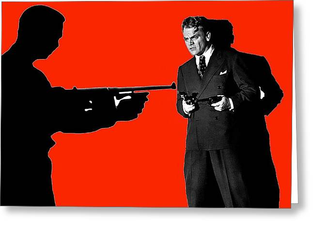 James Cagney As Gangster Rocky Sullivan In Angels With Dirty Faces 1938-2008 Greeting Card by David Lee Guss