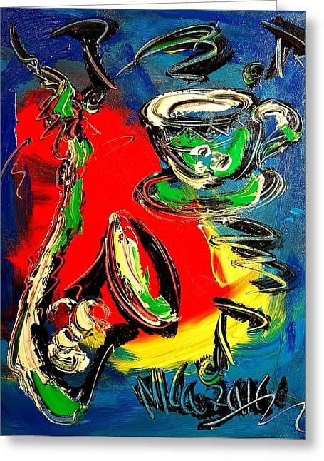 Jazz Greeting Card by Mark Kazav