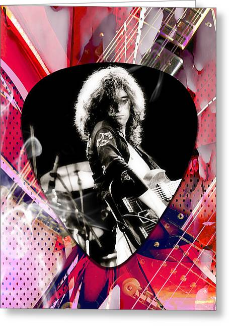 Jimmy Page Led Zeppelin Art Greeting Card