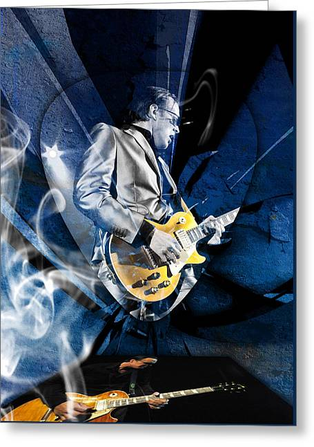 Joe Bonamassa Blues Guitarist Art Greeting Card by Marvin Blaine