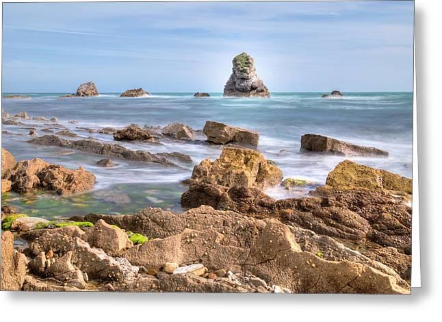 Jurassic Coast - England Greeting Card by Joana Kruse