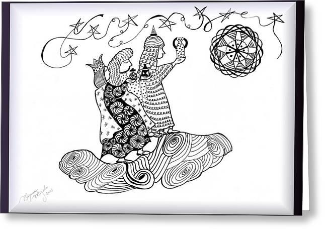3 Kings Greeting Card by Myrna Migala