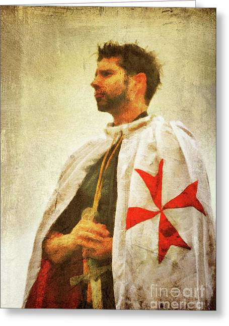 Knight Templar Greeting Card by John Springfield