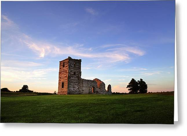 Knowlton Church - England Greeting Card