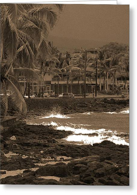 Kona Greeting Card by Athala Carole Bruckner