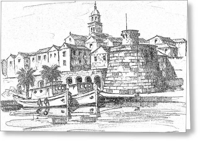 Korcula Croatia Greeting Card by Joseph Hendrix