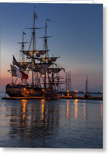 Lafayette's Hermione Voyage 2015 Greeting Card