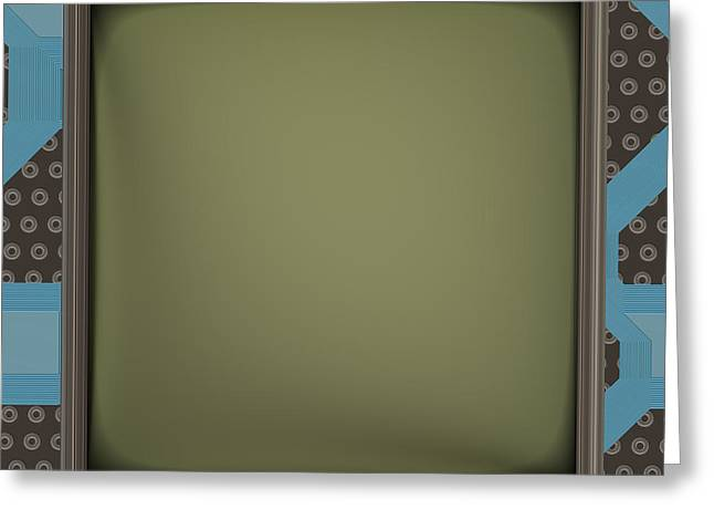 Lcd Screen On Circuit Generated Texture Greeting Card