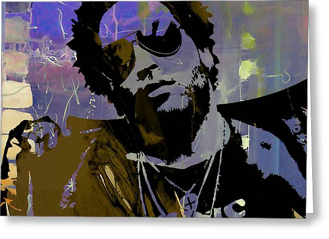 Lenny Kravitz Collection Greeting Card by Marvin Blaine