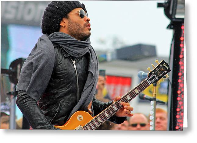 Lenny Kravitz Greeting Card by Wild Expressions Photography