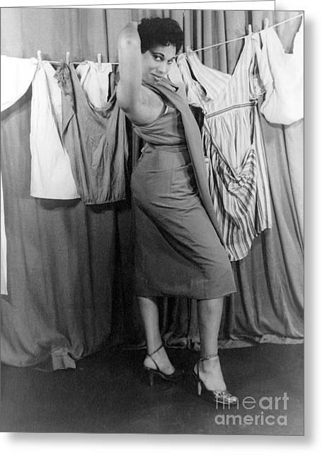 Leontyne Price (1927- ) Greeting Card by Granger