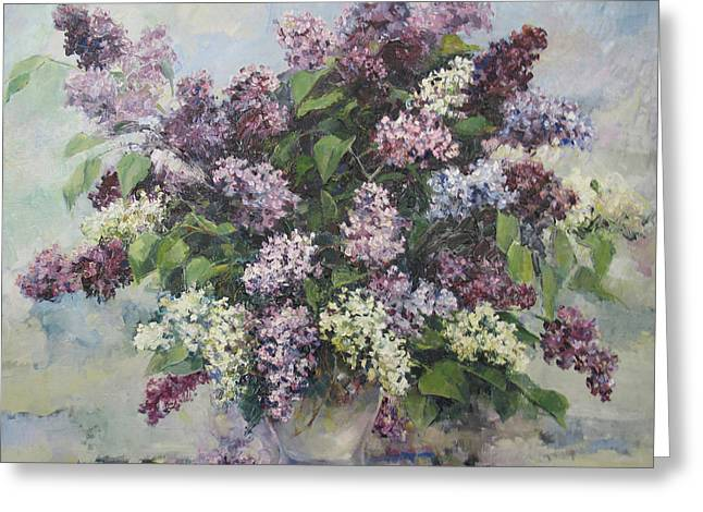 Lilacs Greeting Card by Tigran Ghulyan
