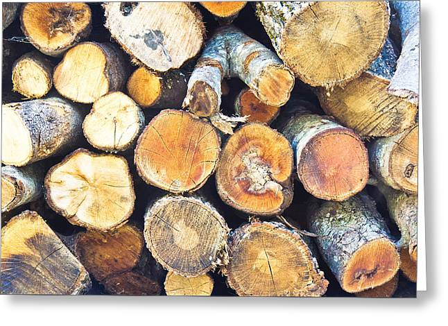 Logs Greeting Card by Tom Gowanlock