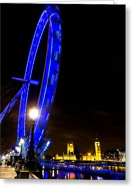 London Eye Night View Greeting Card