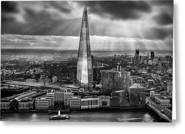 London From The Sky Garden Greeting Card by Ian Hufton