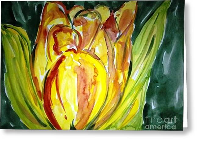 Love Flowers Greeting Card by Baljit Chadha
